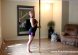full body roll pole dancing lesson for beginners