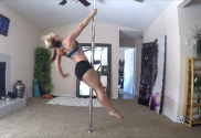 starting a pole dancing workout at home