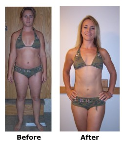 before and after of pole dancing weight loss