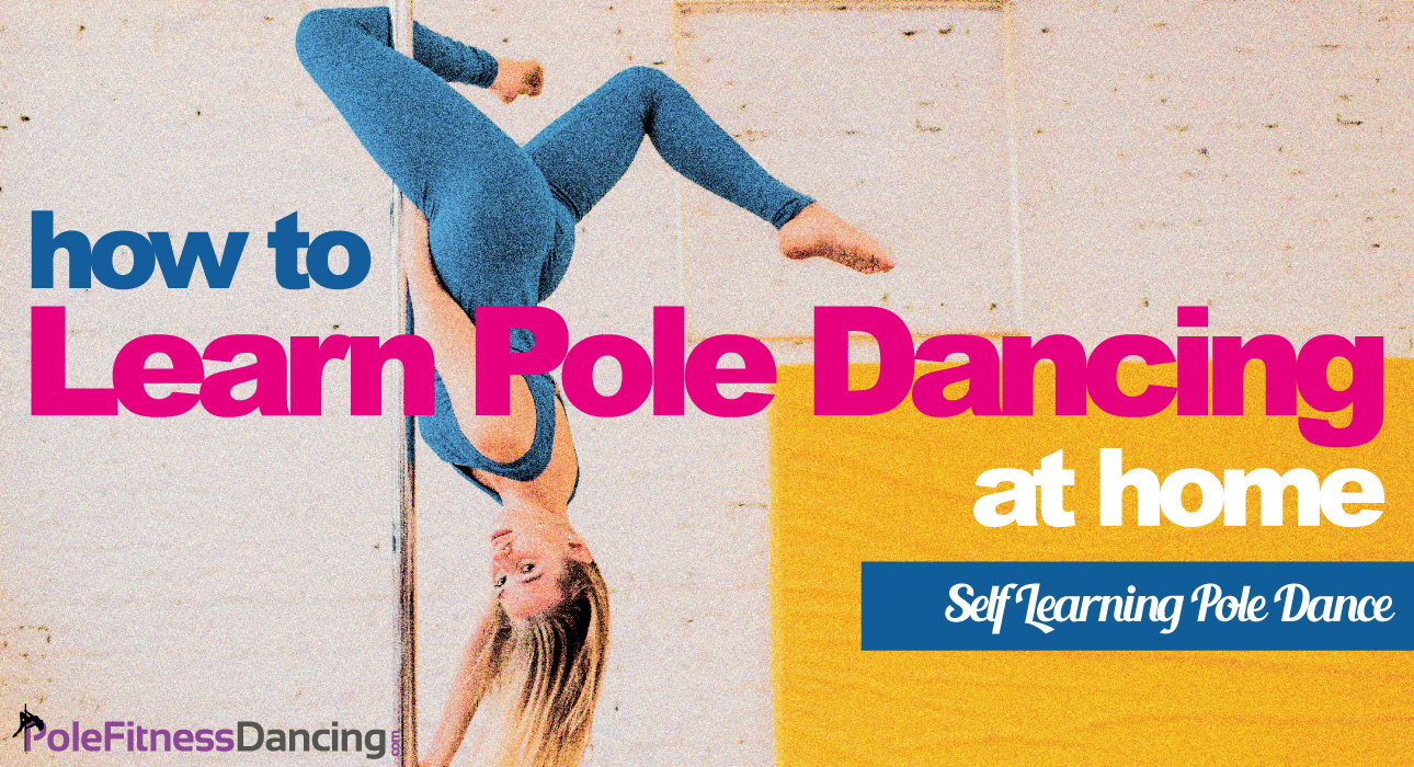 A girl is doing an invert on the dance pole thinking How To Learn Pole Dancing At Home   Self Learning Pole Dance