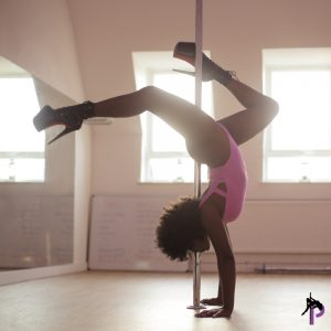 a girl wearing pole shoes and best beginner pole dancing shoes