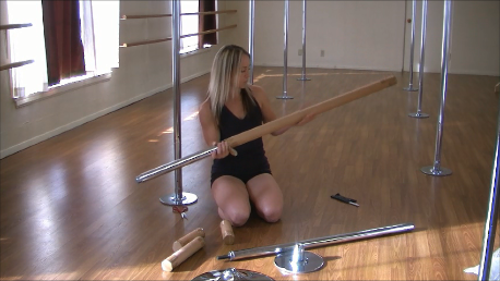 how to install a pole fitness dance pole