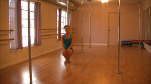 back slide ski squat for pole dancing