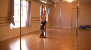 forearm stand pole dancing
