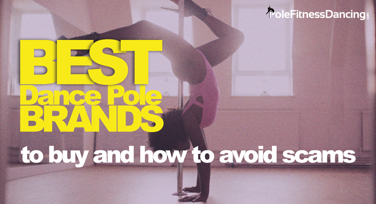 A girl inverting and thinking the Best Dance Pole Brands To Buy & How To Avoid Scams