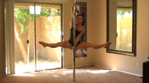 beginner straddle pole spin