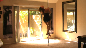 how to pole dance at home