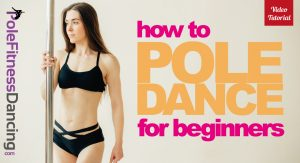 a girl in standing by a dance pole thinking How To Pole Dance For Beginners   Dance Pole Lessons Videos