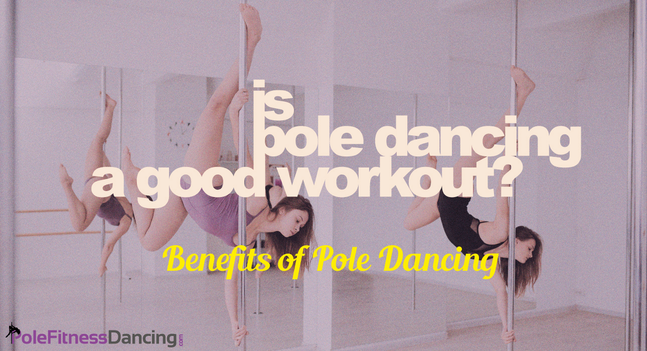 Is Pole Dancing A Good Workout? | Two Girls are doing an Invert on Dance Poles to Show The Benefits of Pole Dancing