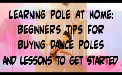 beginners tips to learn pole dance at home