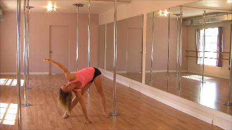 pole dance classes stretching