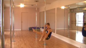 feeling sexy during a pole dancing workout