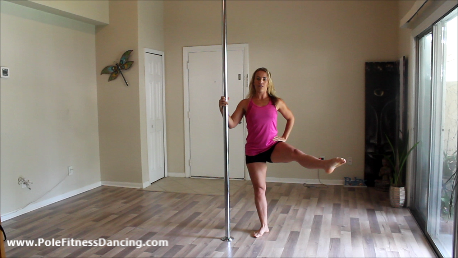 sexy pole dancing leg workout for women at home