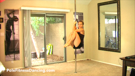 ab workout on a pole dancing pole for home
