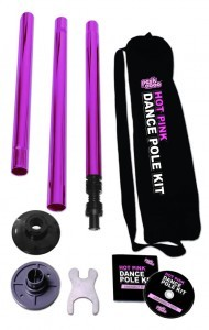 Hot Pink Stripper Pole by Peekaboo from Spencers