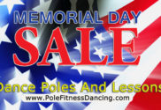 memorial day sale 2016 on dance poles and pole dancing lessons