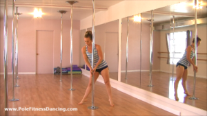 online pole dancing lesson routine for beginners and intermediates video