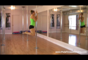 upper body strength exercise on dance pole