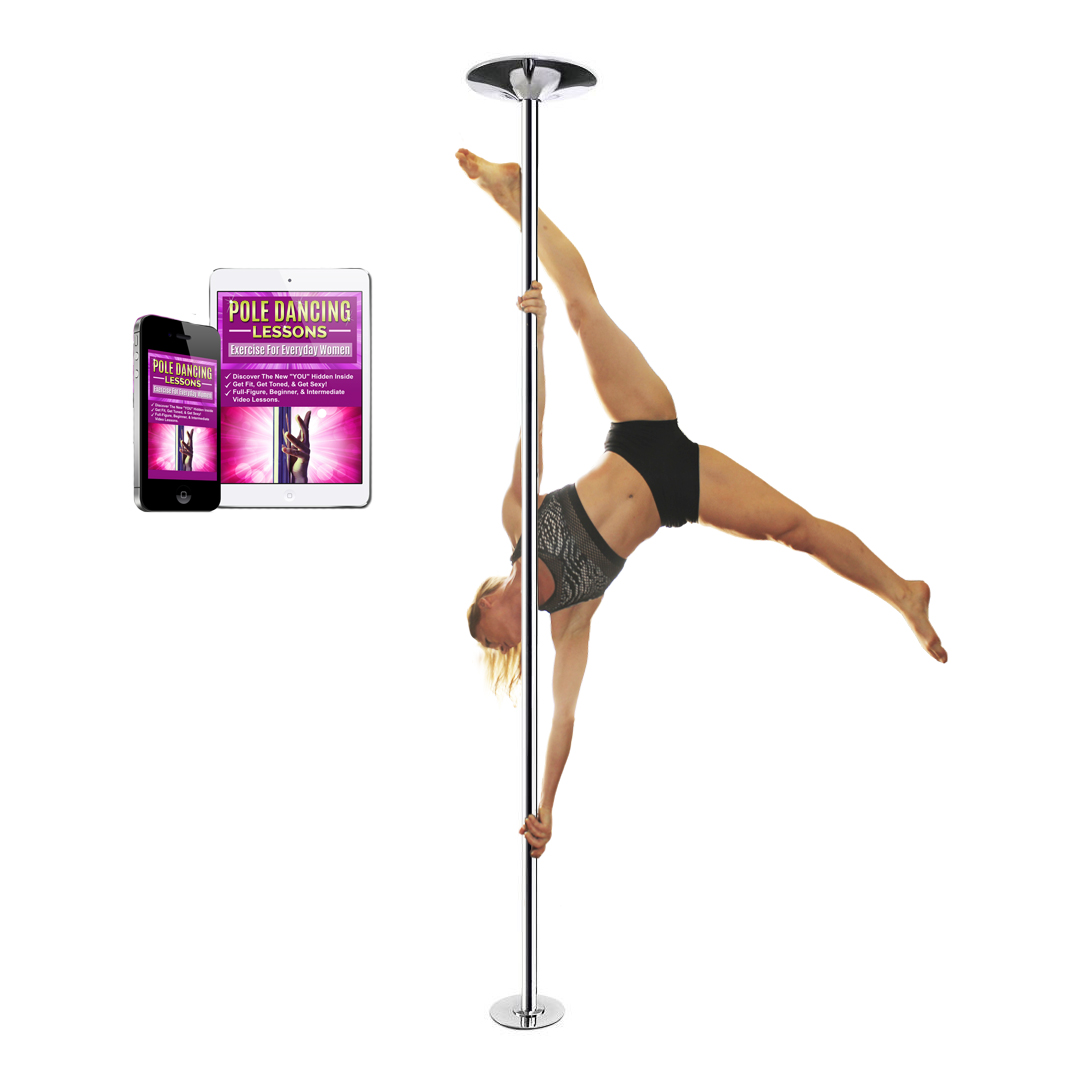 Exercise with stripper poles