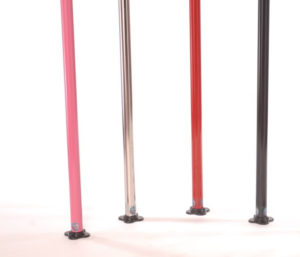 Lil Mynx spinning pole dancing poles in different colors