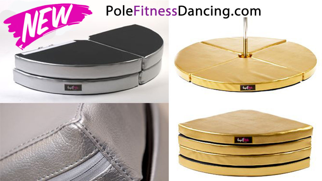 Lupit pole dancing crash mats silver and gold in shop FB
