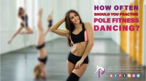 a female pole dancer with pole wears contemplating to pole dance with her pole dancer friends