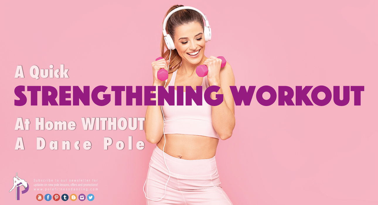 a happy female holding weights and wearing her headphones on getting ready for her home workout