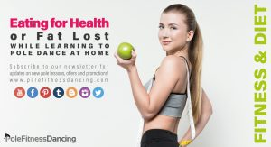 A girl holding an apple and trying to loss weight