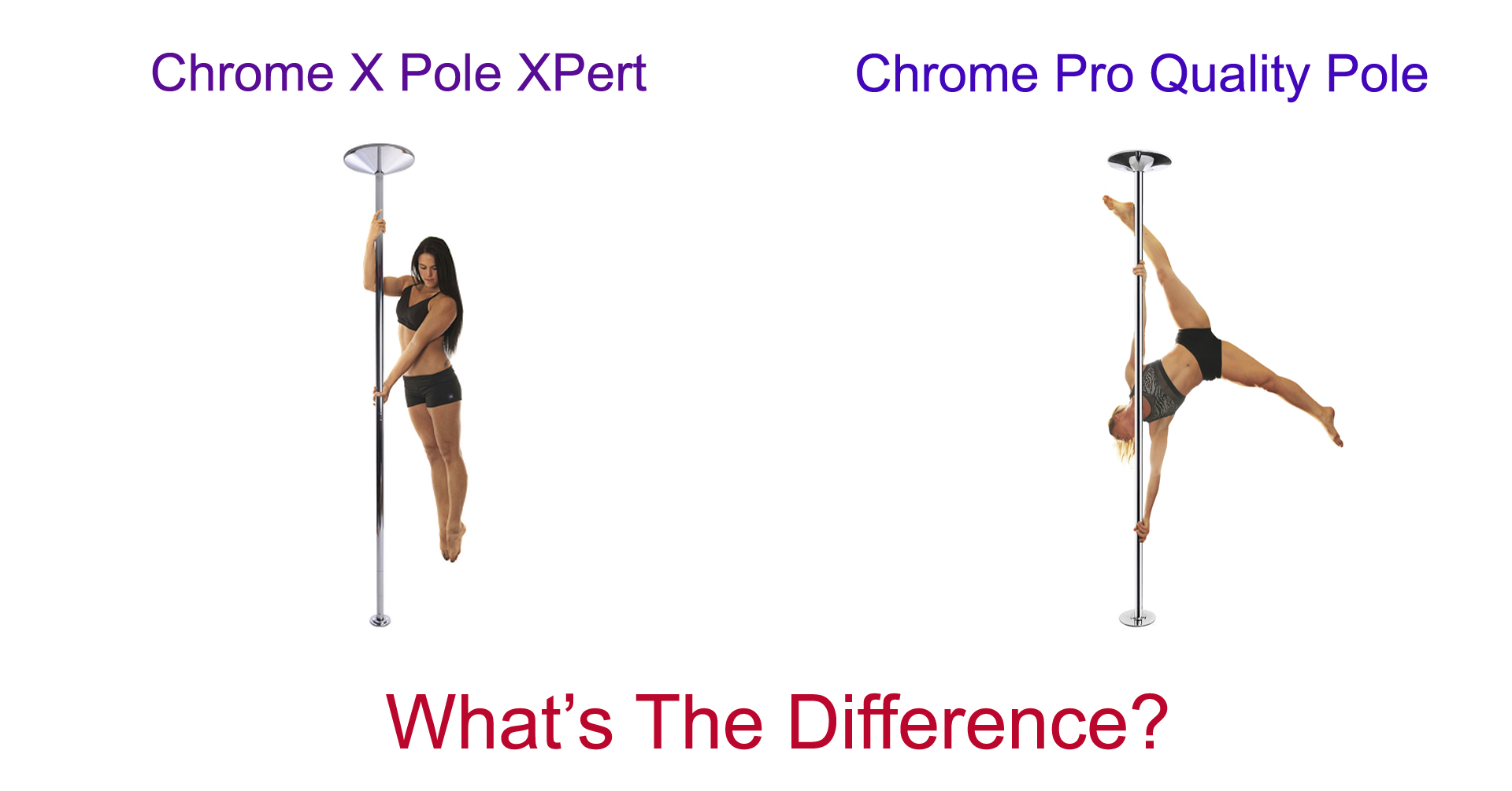 difference between chrome pro quality and xpert x pole dance poles