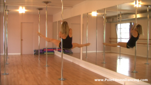 straddle pole dance spin pole dancing routine online