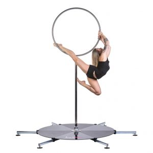A woman exercising on a Lupit Lollipop for her Lupit Stage