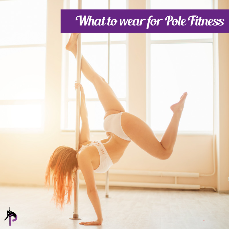 a woman inverting in a pole bikini wear and Pole fitness shorts and pole wear blog