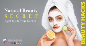 a lady with facial mask and a lemon and a cucumber in her hands making an homemade organic anti ageing face mask