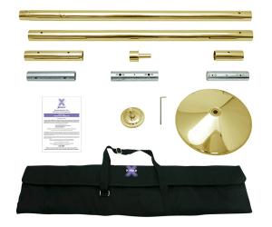 Titanium Gold X Pole XPert Dance Pole Kit