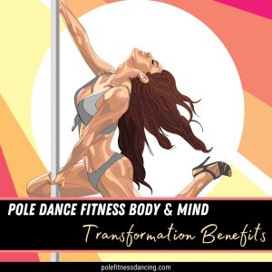 An image of a woman looking powerful on a dance pole