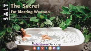 A lady in a bathtub having salt as her secret fat blasting solution