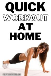 A woman doing a quick strengthening workout at home.