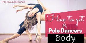 body of a pole dancer. One male pole dancer with a female pole dancer together pole dancing.