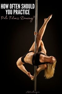 A woman practicing pole fitness dancing