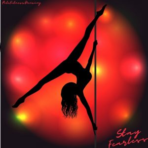 A woman dancing on a dance pole fearlessly!