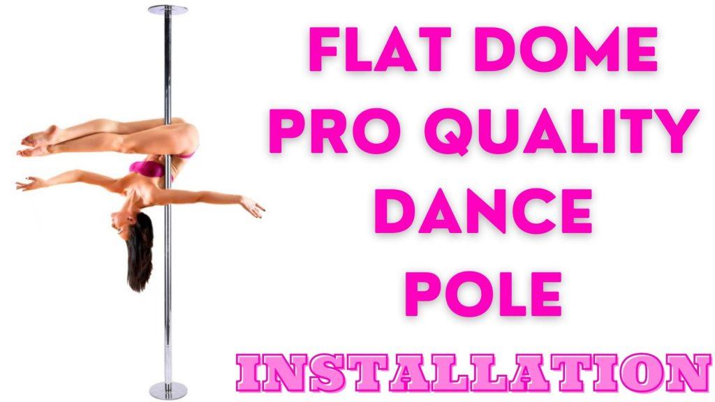 A woman on a flat dome pro quality dance pole