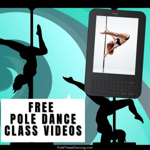 A woman pole dancing for fitness