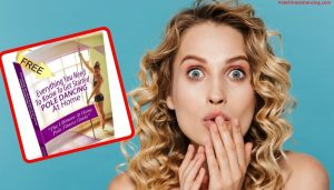 A woman excited about her free Pole Dancing for Fitness PDF Guide