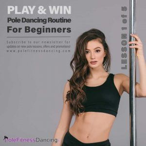 A female pole dancer is getting ready to learn Pole Dancing Routine For Beginners