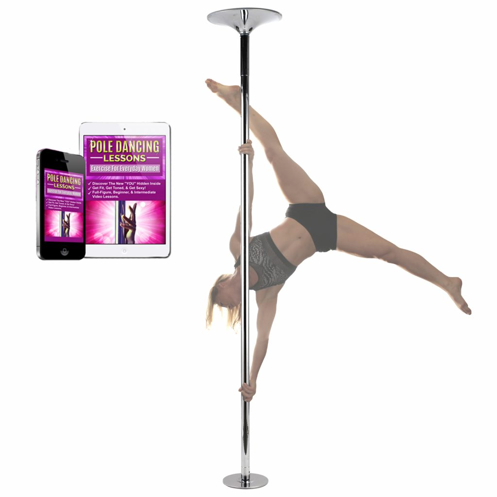 portable removable spinning static home dance pole kit for sale for studio fitness workout exercise dancing with lessons online