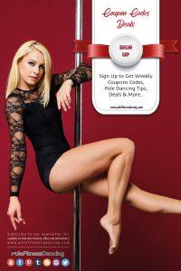 A girl posing on the pole