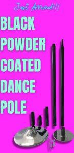 POLE FITNESS DANCING BLACK POWDER COATED POLE