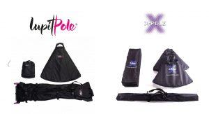 X-Pole X Stage Lite & Lupit Freestanding Portable Dance Pole Panel Size Comparison